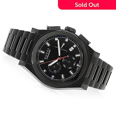 03111f16827 631-872- Gucci Men s 42mm Pantheon Swiss Made Quartz Chronograph Stainless  Steel Bracelet Watch