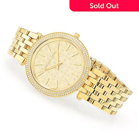 da84f9bfc9be 632-110- Michael Kors Women's Darci Quartz Crystal Accented Stainless Steel Bracelet  Watch