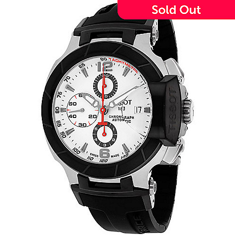 9c2a0409d 632-182- Tissot 42mm T-Race Swiss Made Automatic Chronograph Date Rubber  Strap