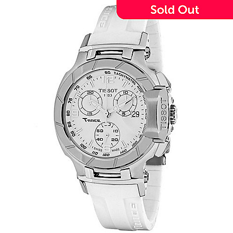 d8f62e7a0 632-538- Tissot Women's T-Race Swiss Made Quartz Chronograph Date Rubber  Strap