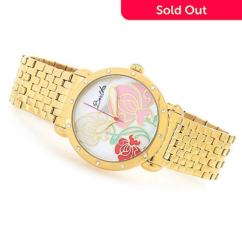 18fa3c55319d 633-022- Bertha Women s Josephine Quartz Flower Dial Crystal Accented  Bracelet Watch