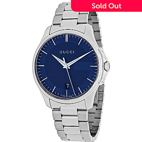 a8a4f47f1c2 633-309- Gucci Men s 38mm G-Timeless Quartz Stainless Steel Bracelet Watch