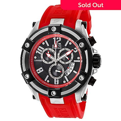 a82d6c1ab6b 633-564- Elini Barokas 47mm Gladiator Swiss Quartz Chronograph Silicone  Strap Watch