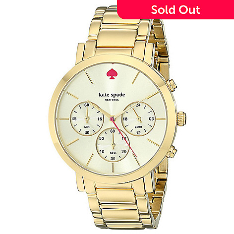 Kate Spade Women S Gramercy Grand Quartz Chronograph Stainless Steel Bracelet Watch