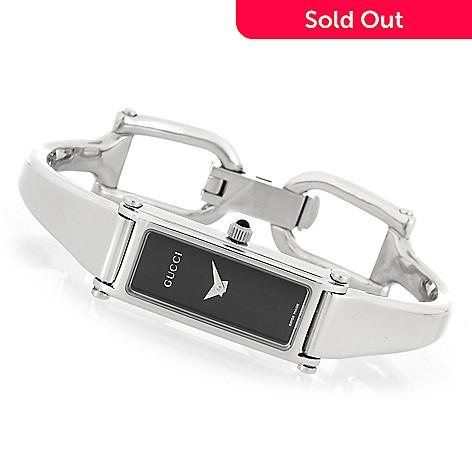 409716f4f35 633-858- Gucci Women s 1500 Swiss Made Quartz Stainless Steel Bangle  Bracelet Watch