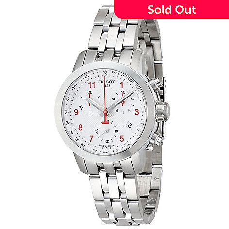 634-062- Tissot Women s PRC 200 Swiss Quartz Chronograph Stainless Steel  Bracelet Watch a4203faa6e