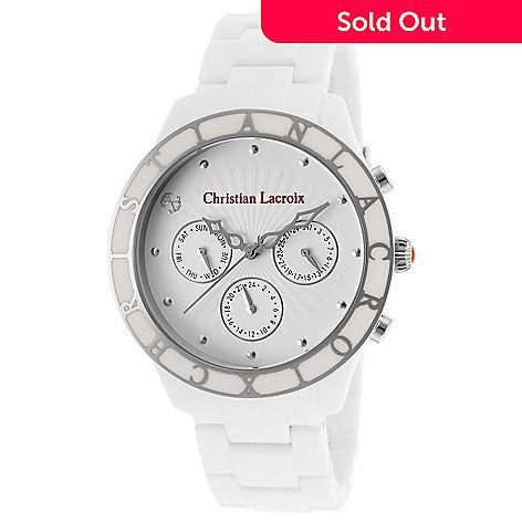 meilleur authentique 1d097 5f682 Christian Lacroix Women's Quartz Multi Function Stainless Steel White  Bracelet Watch