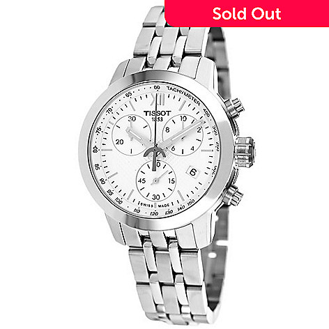 634-322- Tissot Women s PRC 200 Swiss Quartz Chronograph Stainless Steel  Bracelet Watch 209b1219e6