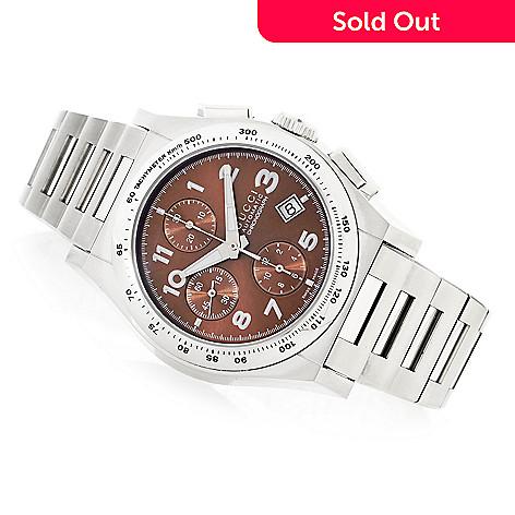 debb5b7b244 634-499- Gucci 44mm 115XL Pantheon Swiss Automatic Chronograph Bracelet  Watch
