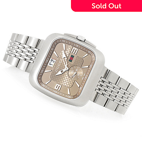 ca58029671c 634-501- Gucci 40mm G-Coupe Swiss Made Quartz Stainless Steel Bracelet Watch