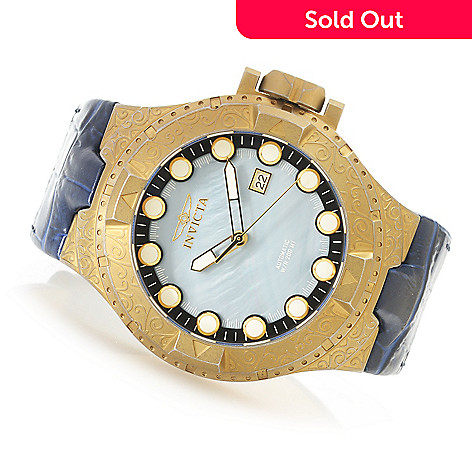 0ddc33d3d 635-632- Invicta 50mm Excursion Excalibur Automatic Leather Strap Watch