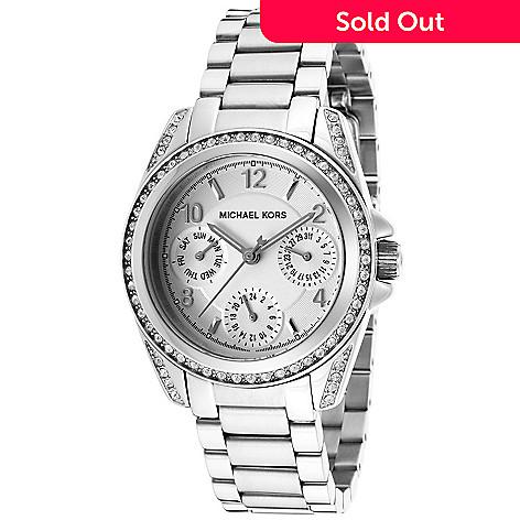 3abf86a1074d 636-276- Michael Kors Women s Blair Quartz Crystal Accented Stainless Steel  Bracelet Watch