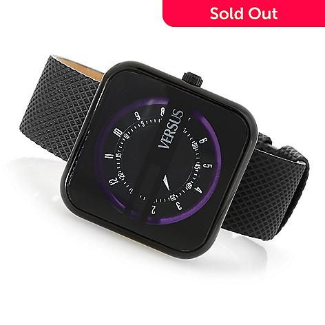 636-581- Versus Versace Women s Kyoto Quartz Stainless Steel Leather Strap  Watch 8ade440915bd6