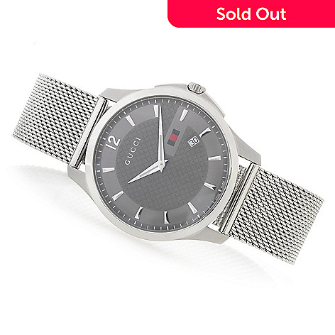 24e9a720338 636-708- Gucci Men s 40mm G-Timeless Swiss Made Quartz Stainless Steel Mesh