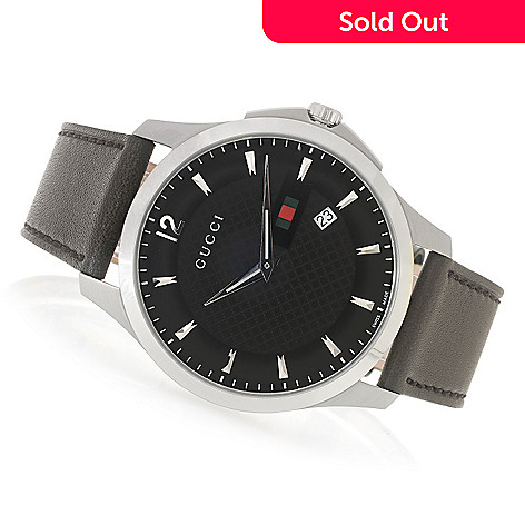 a1e9b704cfe 636-709- Gucci 40mm G-Timeless Swiss Made Quartz Sapphire Crystal Leather  Strap