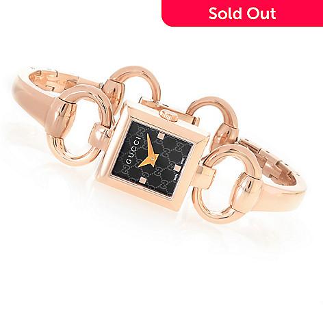 32dd946b7 636-716- Gucci Women's Rectangular Tornabuoni Swiss Made Quartz Stainless  Steel Bangle Bracelet Watch