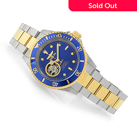 90e8c09d8 636-871- Invicta 40mm Pro Diver Open Heart Automatic Stainless Steel  Bracelet Watch
