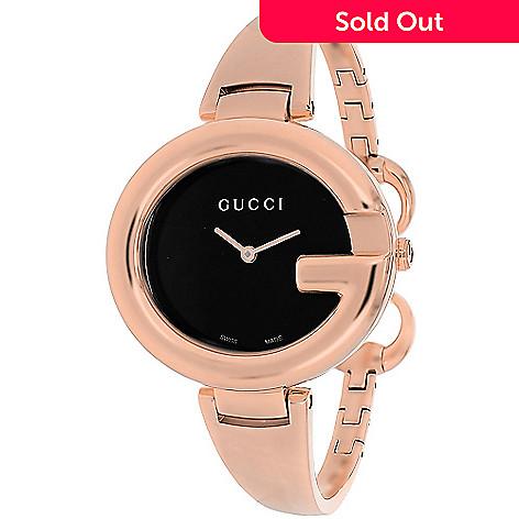 d9e31978168 637-229- Gucci Women s Guccissima Swiss Made Quartz Stainless Steel Bangle  Bracelet Watch