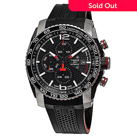 59d80f8fb 637-288- Tissot 45mm PRs 516 Extreme Swiss Made Automatic Chronograph  Rubber Strap Watch