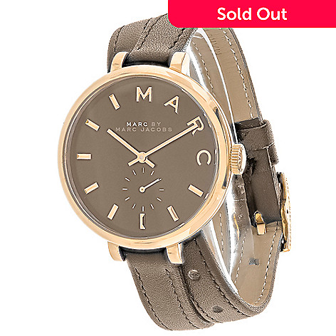 0cc62f298d996 637-423- Marc Jacobs Women's Sally Quartz Double Wrap Leather Strap Watch