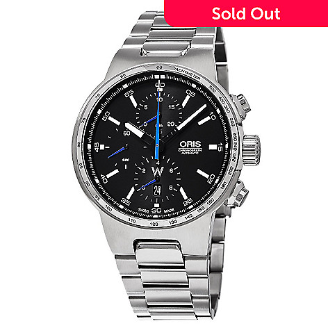 637 631 Oris 44mm Williams F1 Swiss Made Automatic Chronograph Stainless Steel Bracelet Watch
