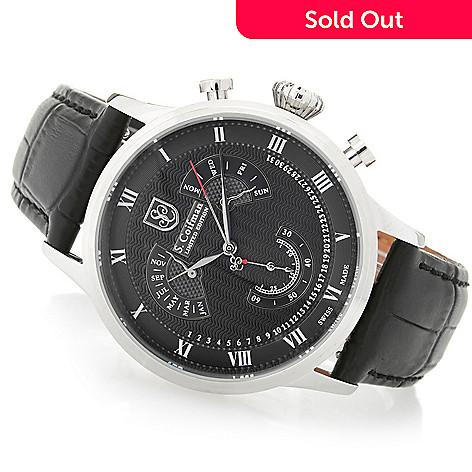 6a413bc5160 S. Coifman 42mm Limited Edition Swiss Made Quartz Perpetual Calendar Strap  Watch