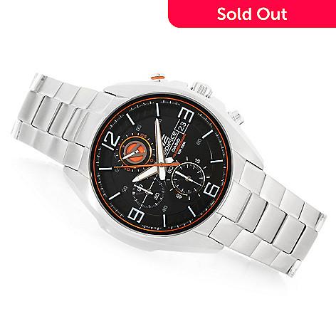 3d8597181 638-027- Casio Men's 44mm Edifice 3D Quartz Chronograph Stainless Steel  Bracelet Watch
