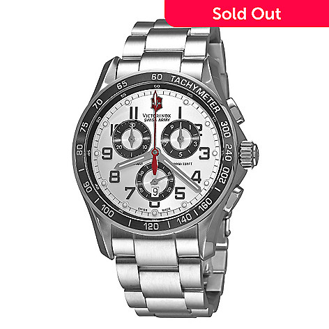 Victorinox Swiss Army Men S 45mm Classic Swiss Made Quartz Chronograph Bracelet Watch