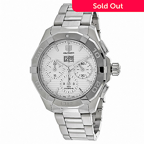 2b10e7270665f 638-808- Tag Heuer Men s 43mm Aquaracer Swiss Made Automatic Chronograph Stainless  Steel Bracelet
