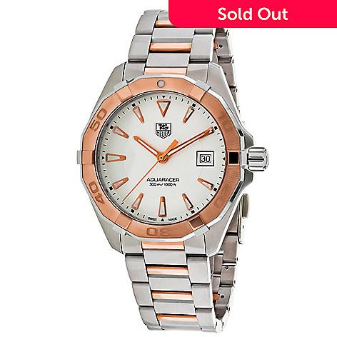 280fb7e2dc840 638-815- Tag Heuer Men s 40mm Aquaracer Swiss Made Quartz Stainless Steel  Bracelet Watch