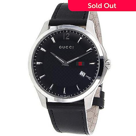 c928155178f 638-816- Gucci 40mm G-Timeless Swiss Made Quartz Leather Strap Watch