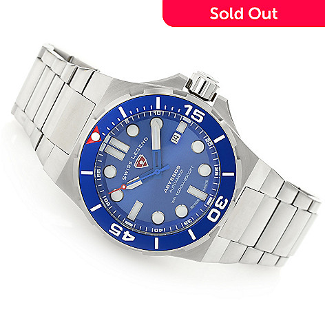 Swiss Legend 46mm Abyssos Swiss Made Automatic Bracelet Watch W
