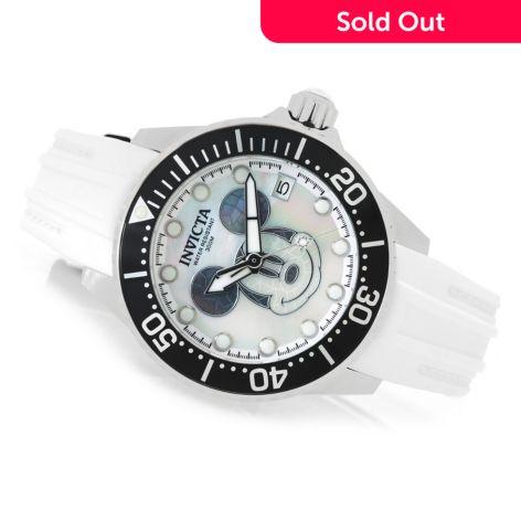 Invicta Disney® Women's Grand Diver Limited Edition Automatic Strap Watch  w/ 3-Slot Dive Case