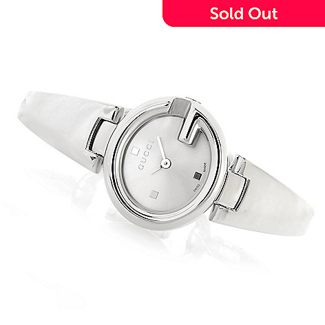 27ee9b4b729 640-392- Gucci Women s Guccissima Swiss Made Quartz Sapphire Crystal Bracelet  Watch