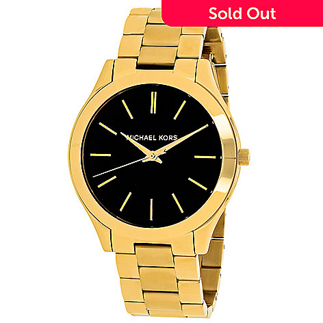 f99b49758b866 640-545- Michael Kors Women s Slim Runway Quartz Stainless Steel Bracelet  Watch