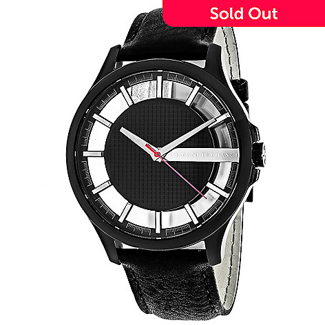 5a8f58da Armani Exchange Men's 46mm Classic Quartz Stainless Steel Leather Strap  Watch