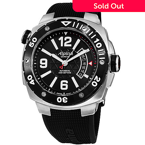 Alpina Mens Mm Extreme Diver Swiss Made Automatic Rubber Strap - Alpina automatic watch