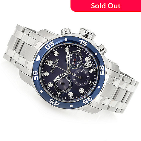 1fc046028 641-754- Invicta Men's 48mm Pro Diver Scuba Quartz Chronograph Stainless  Steel Watch w