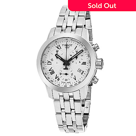 642-273- Tissot Women s PRC 200 Swiss Made Quartz Chronograph Stainless  Steel Bracelet Watch 458f6486bf