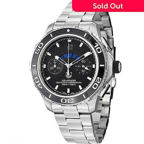04c1204e66ebf 642-300- Tag Heuer Men s 43mm Aquaracer 500 Swiss Made Automatic  Chronograph Stainless Steel