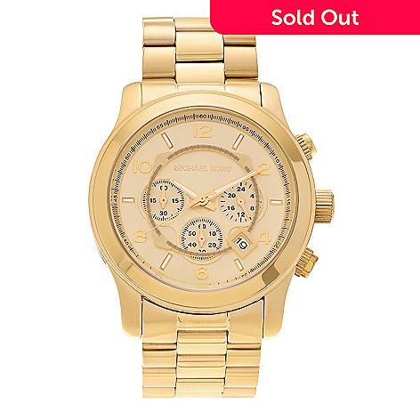 53bb023222df 642-571- Michael Kors Men s 45mm Runway Quartz Chronograph Stainless Steel Bracelet  Watch