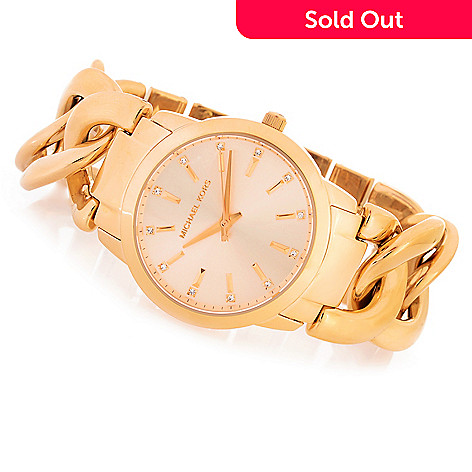 f398f4bb576e9 642-705- Michael Kors Women s Elena Quartz Crystal Accented Stainless Steel  Bracelet Watch