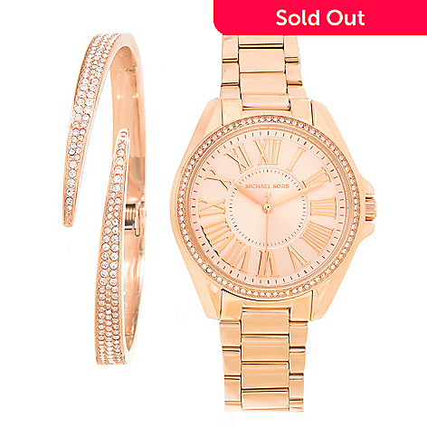 e63efb67338a 642-706- Michael Kors Women s Kacie Quartz Stainless Steel Bracelet Watch  w  Crystal