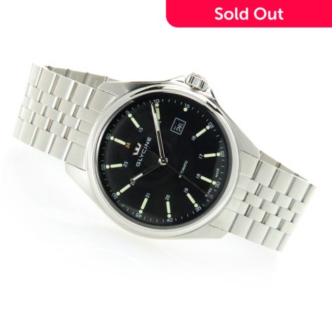 Glycine Men S 43mm Combat 6 Swiss Made Automatic Sapphire Crystal Stainless Steel Bracelet Watch
