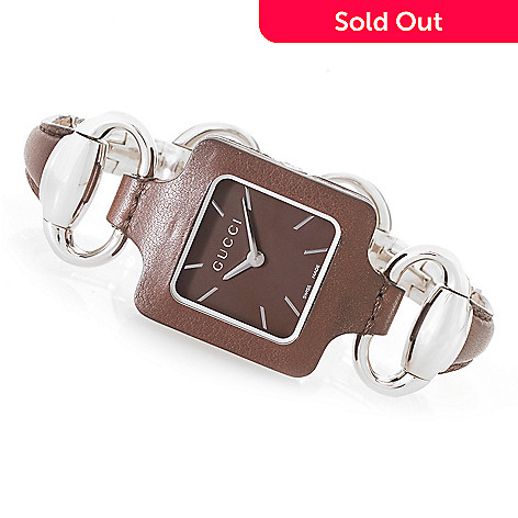 "3b1d5aaf7d0 As Is"" Gucci Women s 1921 Swiss Made Quartz Stainless Steel Bangle ..."