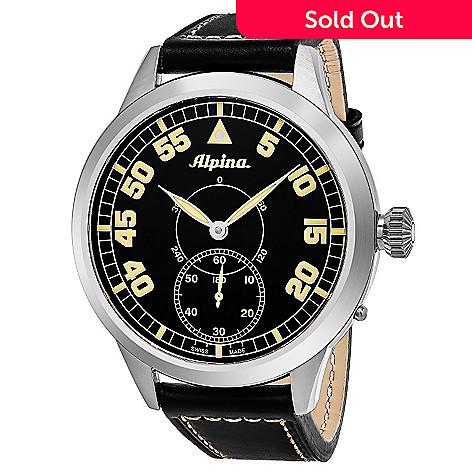 Alpina Mm Pilot Heritage Swiss Made Automatic Leather Strap Watch - Alpina automatic watch