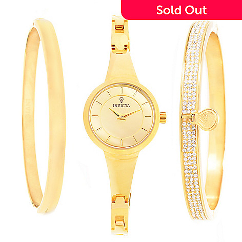 643 566 Invicta Gabrielle Union Women S Quartz Bracelet Watch Bangle Set