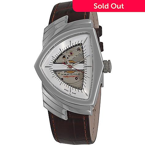 9801c26ee95 643-659- Hamilton Men's Ventura Swiss Made Automatic Leather Strap Watch