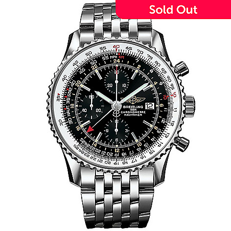 643 722 Breitling 46mm Navitimer Swiss Made Automatic Chronograph Stainless Steel Bracelet Watch