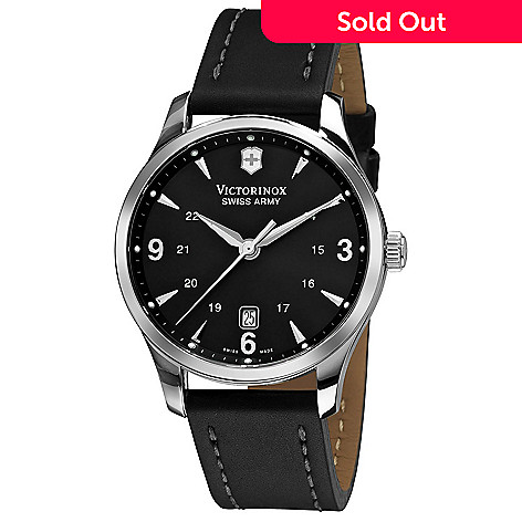 3b81389b5 643-827- Victorinox Swiss Army 40mm Alliance Swiss Made Quartz Leather  Strap Watch